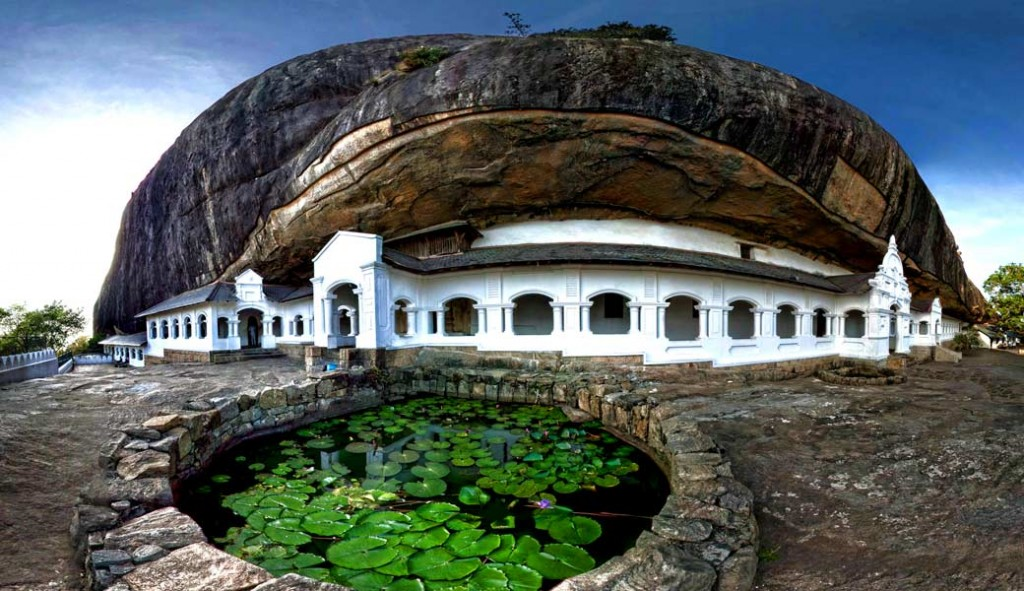 14 Days to Sri Lanka Cave Temple Front